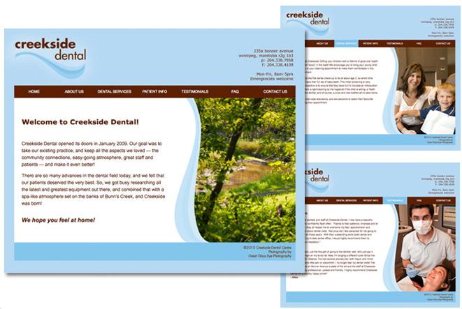 Creekside Dental: website, 2008
